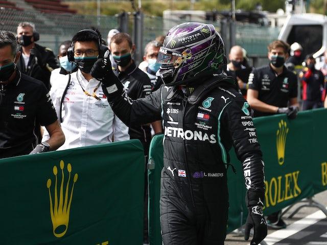 Lewis Hamilton secures pole position for Belgian Grand Prix