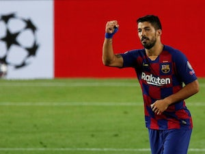 Luis Suarez pictured for Barcelona in August 2020