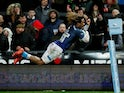 Sale Sharks' Marland Yarde in action on February 28, 2020