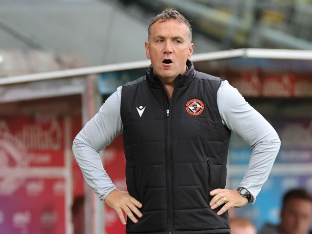 Dundee United boss Micky Mellon pictured on August 22, 2020