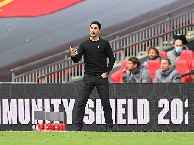 Arsenal manager Mikel Arteta pictured on August 29, 2020