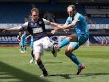 Derby County's Matt Clarke in action in June 2020