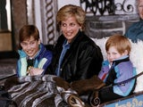Princess Diana with a young Wills and Harry