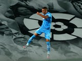 Valencia's Rodrigo Moreno celebrates scoring in June 2020