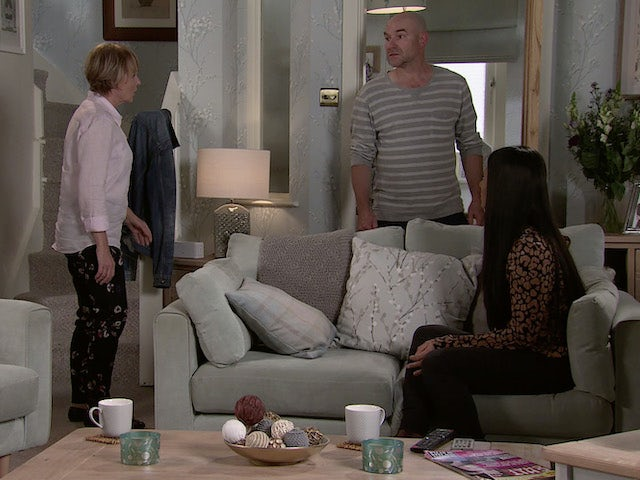 Sally, Tim and Alya on Coronation Street's second episode on September 11, 2020