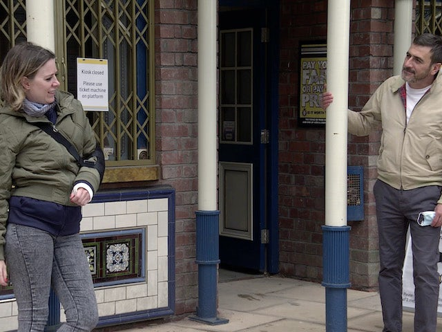 Abi and Peter on Coronation Street on August 31, 2020