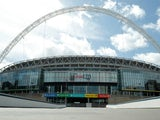 A general shot of Wembley Stadium in May 2020
