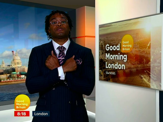 Good Morning Britain presenter signs off bulletin with Wakanda salute