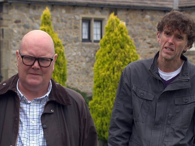 Paddy and Marlon on Emmerdale on September 7, 2020