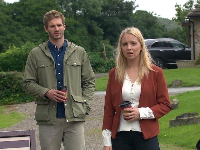 Jamie and Belle on Emmerdale on September 9, 2020