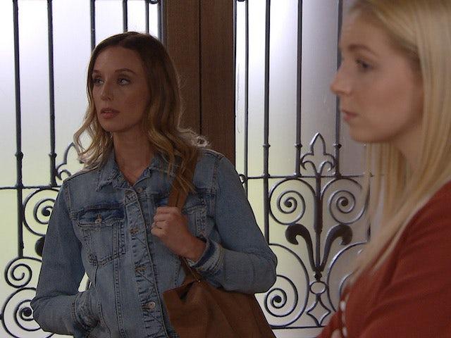 Andrea and Belle on Emmerdale on September 11, 2020