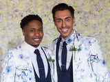 Hollyoaks episode 5432 - Scott and Mitchell pose for their wedding photos