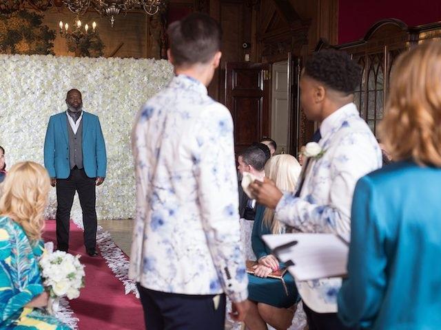 Hollyoaks episode 5432 - Walter interrupts the wedding