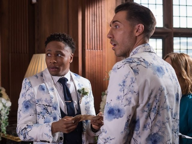 Hollyoaks episode 5432 - Scott and Mitchell are surprised by the intervention