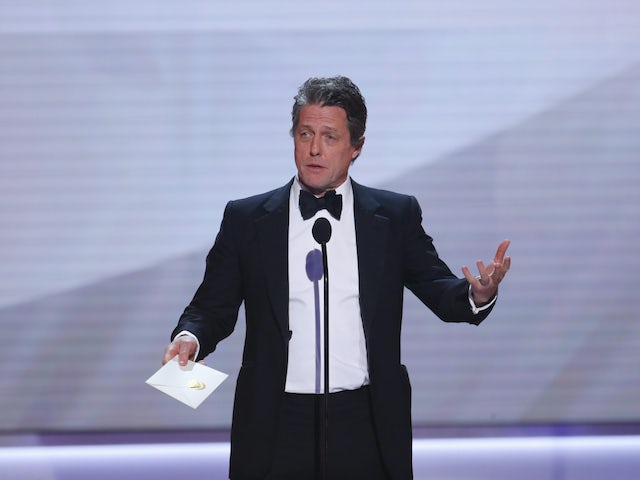 Hugh Grant pictured on January 27, 2019