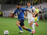 Italy's Lorenzo Insigne in action with Bosnia-Herzegovina's Gojko Cimirot in the UEFA Nations League on September 4, 2020
