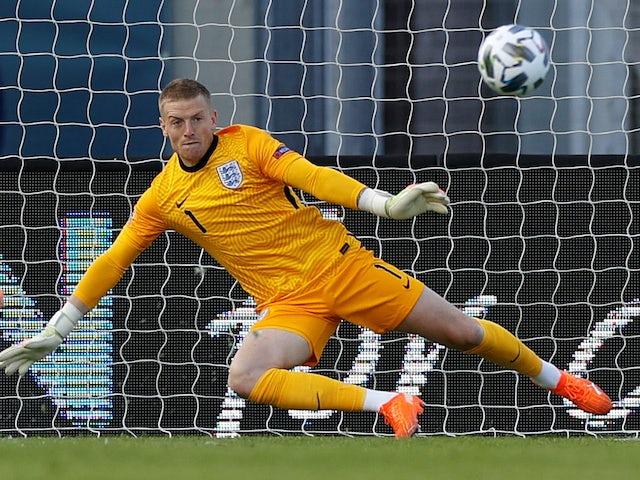 Jordan Pickford in action for England on September 5, 2020