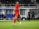 Wales striker Kieffer Moore in action against Finland in the UEFA Nations League on September 3, 2020