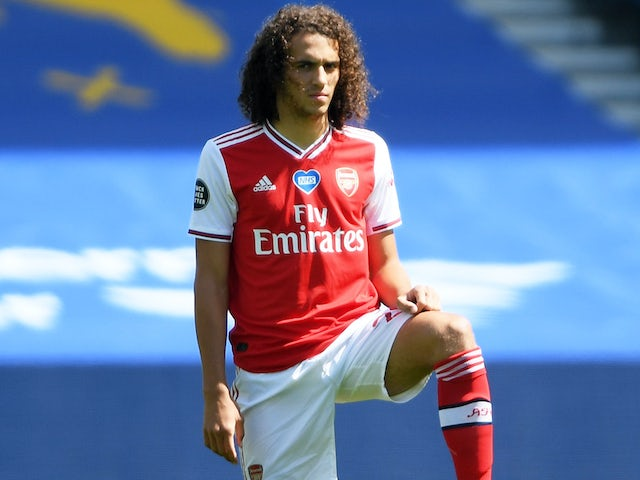 Arsenal's Matteo Guendouzi on June 20, 2020
