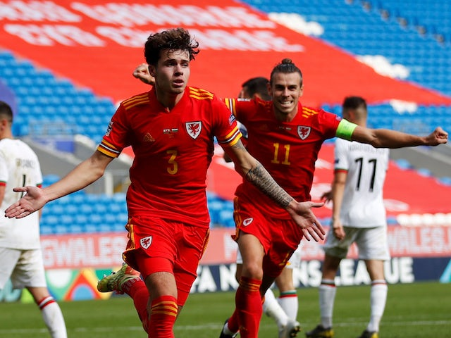 Wales youngster Neco Williams celebrates scoring the winner against Bulgaria on September 6, 2020