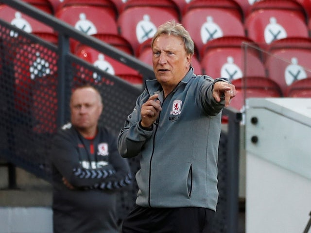 Middlesbrough manager Neil Warnock pictured in the EFl Cup on September 4, 2020