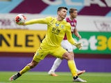 Burnley's Nick Pope in action against Sheffield United in the Premier League on July 5, 2020