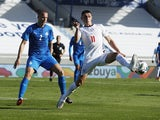 England's Phil Foden in action with Iceland's Hjortur Hermannsson in the UEFA Nations League on September 5, 2020