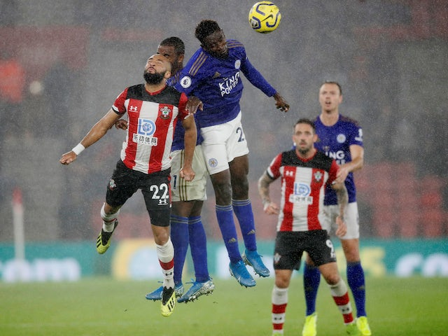 A general shot of the match between Southampton and Leicester in October 2019