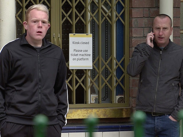 Craig and Kirk on the second episode of Coronation Street on September 18, 2020