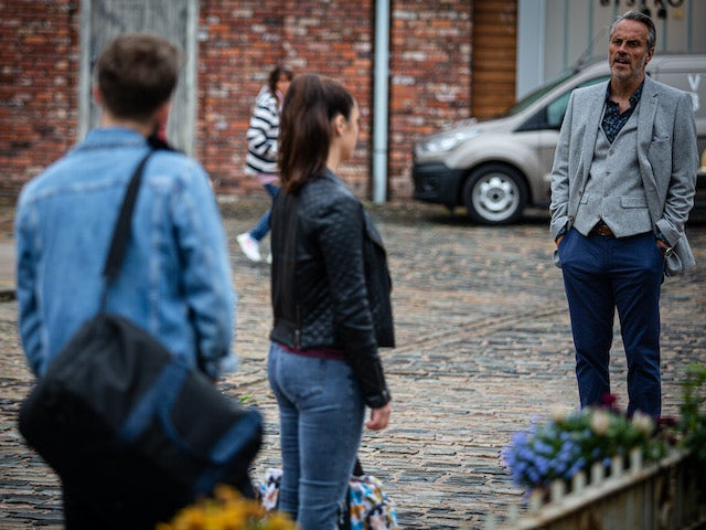 Ray, Shona and David on the first episode of Coronation Street on September 14, 2020
