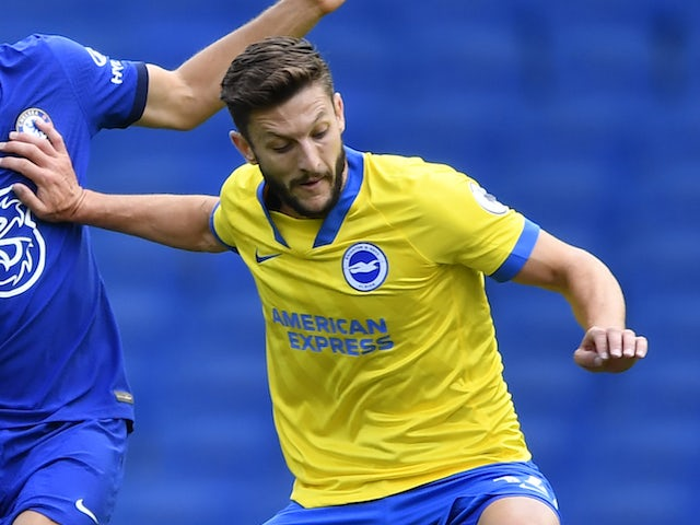 Adam Lallana in action for Brighton & Hove Albion in summer 2020