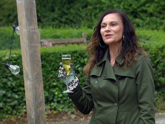 A toast to Annie on Emmerdale on September 18, 2020