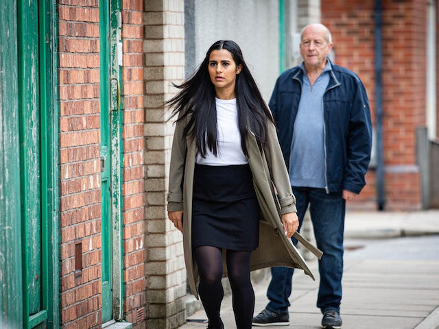 Alya and Geoff on Coronation Street on September 25, 2020
