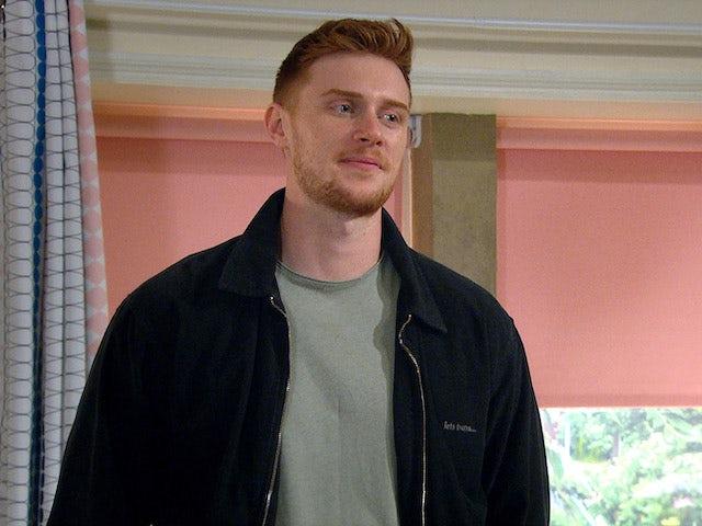 Luke on the first episode of Emmerdale on September 24, 2020