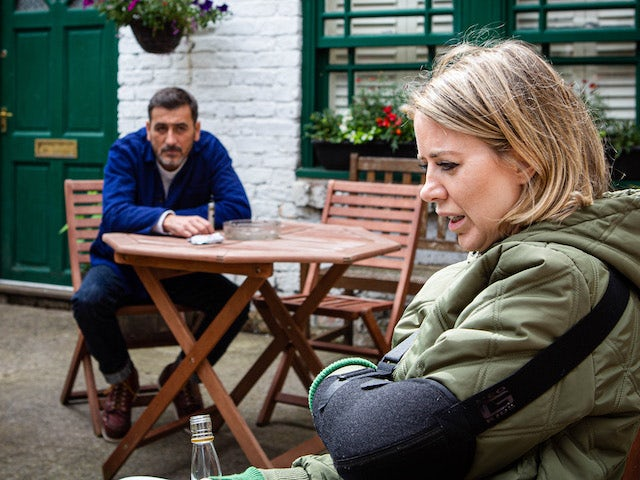 Peter and Abi on the first episode of Coronation Street on September 21, 2020