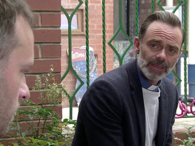 Billy on the first episode of Coronation Street on September 14, 2020