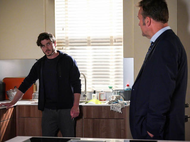 Gray gets a police visit on EastEnders on September 25, 2020