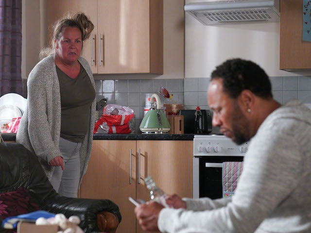 Mitch and Karen on EastEnders on September 24, 2020