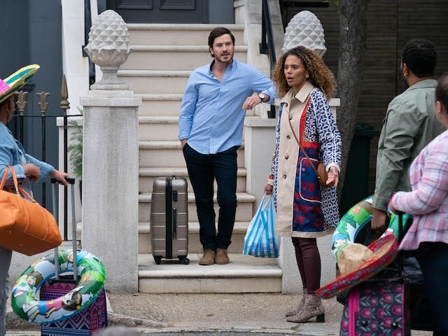 Chantelle gets ready for the family holiday on EastEnders on September 14, 2020