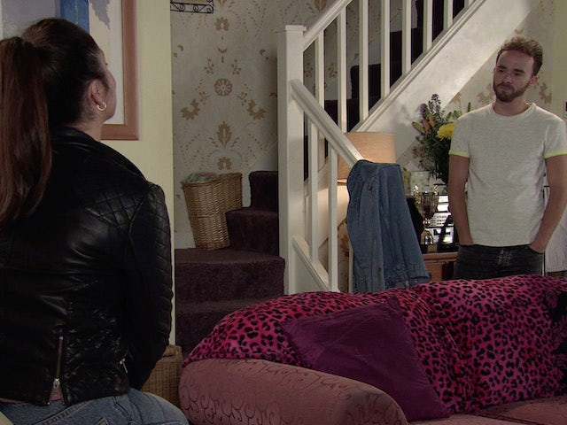 Shona and David on the second episode of Coronation Street on September 16, 2020