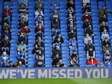 Fans attend a pilot event during a pre-season friendly between Brighton and Chelsea at the Amex in August 2020