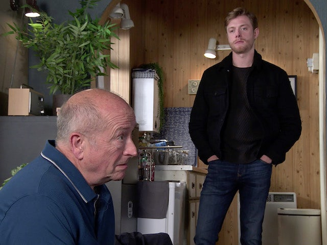Geoff and Daniel on the second episode of Coronation Street on September 23, 2020