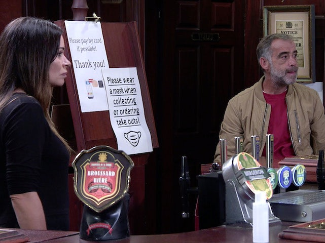 Carla and Kevin on Coronation Street on September 25, 2020