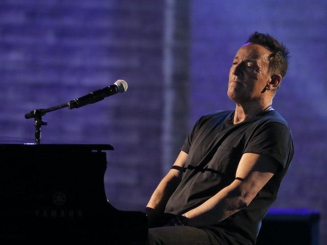Bruce Springsteen having a tinkle on June 10, 2018