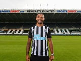 Callum Wilson poses in a Newcastle kit after joining the club in September 2020