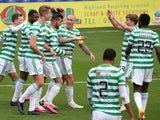 Celtic players celebrate Shane Duffy's goal against Ross County on September 12, 2020
