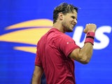 Dominic Thiem celebrates reaching the US Open final on September 11, 2020