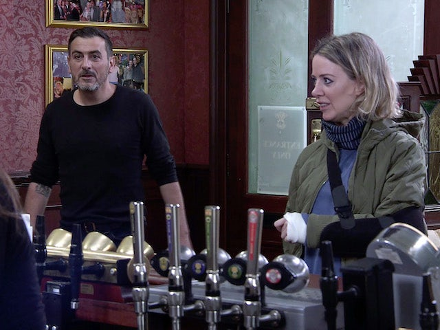 Peter and Abi on Coronation Street on September 25, 2020