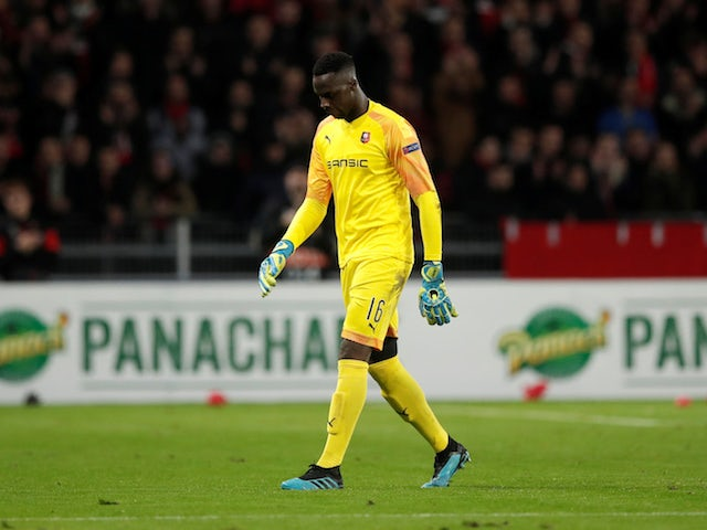 Rennes goalkeeper Edouard Mendy pictured in October 2019