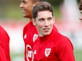 Liverpool midfielder Harry Wilson pictured in Wales training on September 5, 2020